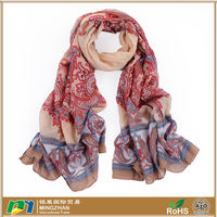 Fashion silk scarf with beautiful flower voile shawls Scarves for women