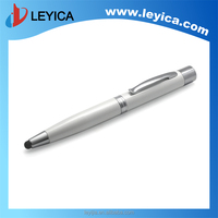 Mobile phone charger through the pen with stylus pen and roller ball pen LY-SJ601