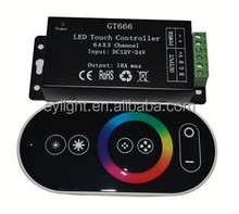 DC12-24V Touch Controller for 6 keys. RGB Led Strip Light's Controller with remote control
