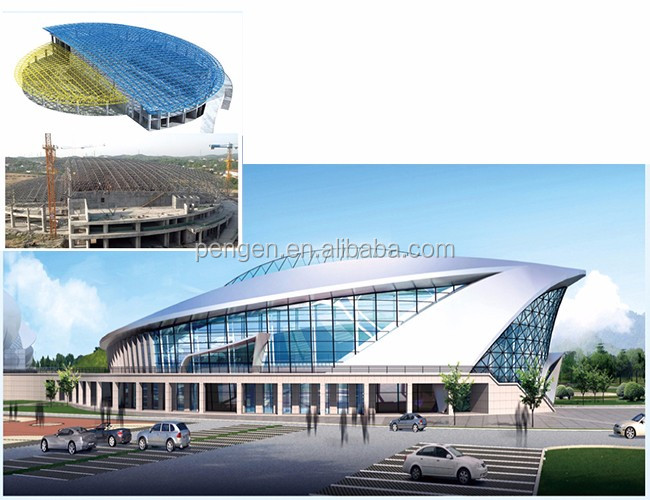 stadium design manufacture steel structure storage building with ISO9001 Certification