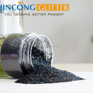 chinese fine holographic glitter powder manufacture G4905 holo black
