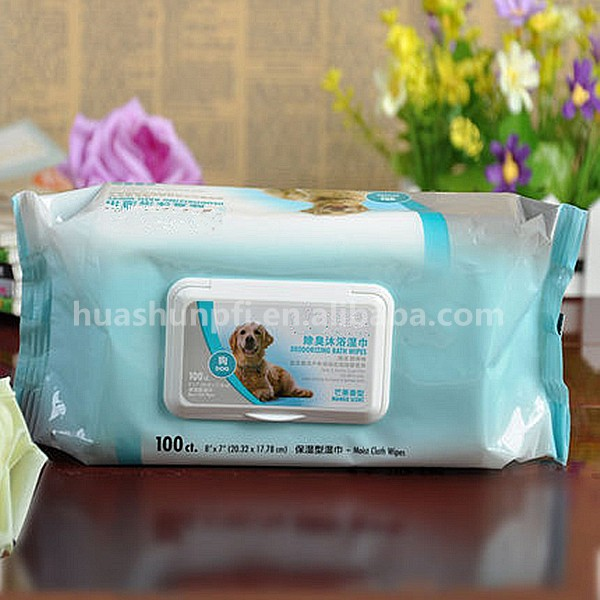 Disposable Pet bathing cleaning wet wipes/towels/tissues antibacterial pet wipes