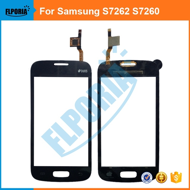 For Samsung Galaxy Star Pro S7262 GT-S7262 S7260 GT-S7260 7260 Touch Screen Digitizer Panel Front Glass With Flex Cable