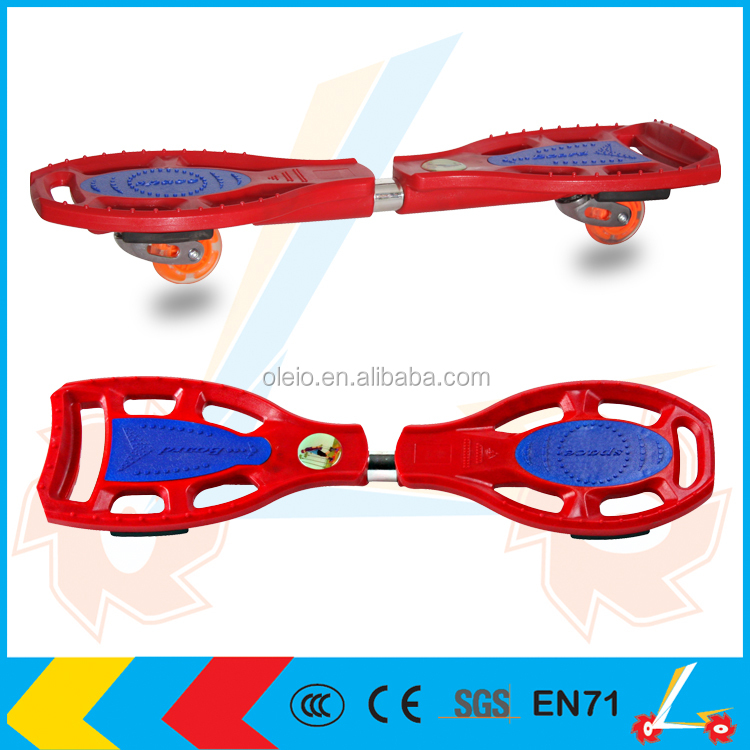 two wheels plastic curiser ABS caster board skateboard