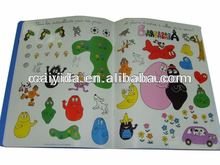colorful kids sticker books
