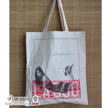 2015 Low Price High Quality Calico Bag Long Handle/Calico Bag Made-In-China/White Canvas Tote Bag