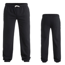 Wholesale cheap men clothing mens custom printing blank black jogger polyester/cotton pants