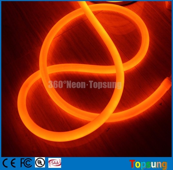 25mm pink led round light 360 degree led neon flex red yellow blue green white