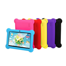 Free shipping preinstalled Kids system 7 inch HD screen Quad Core 8GB Kids tablet pc Blue