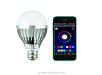 best price 10w RGB SMD led Bluetooth remote control bulb lamp