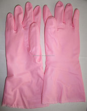 high quality food grade smart dish wash rubber cotton lined and non lined household gloves