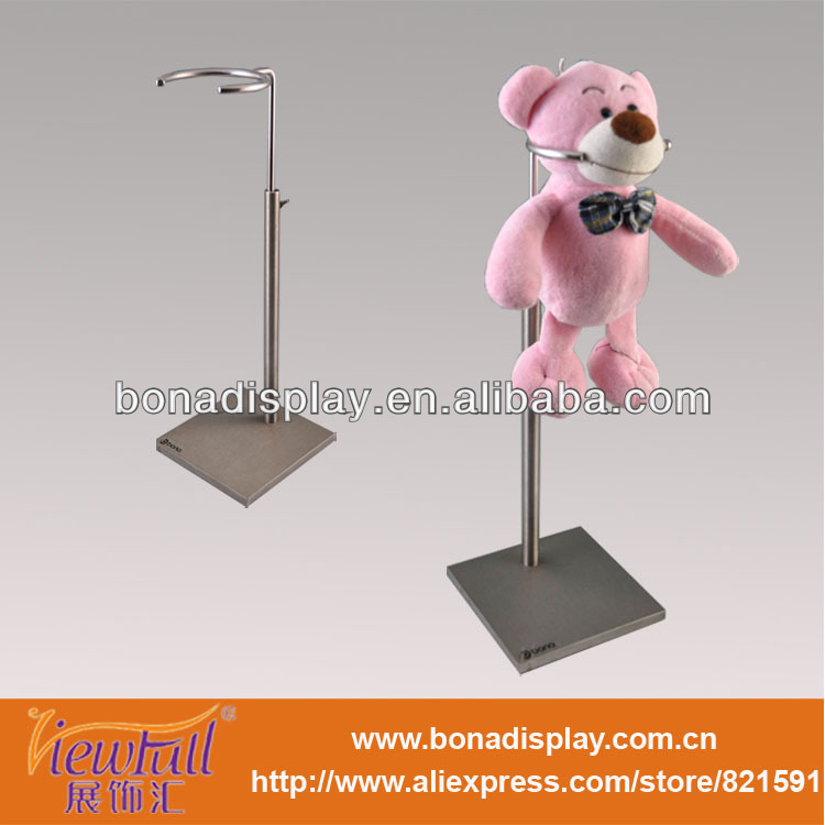 Adjustable metal doll display stand