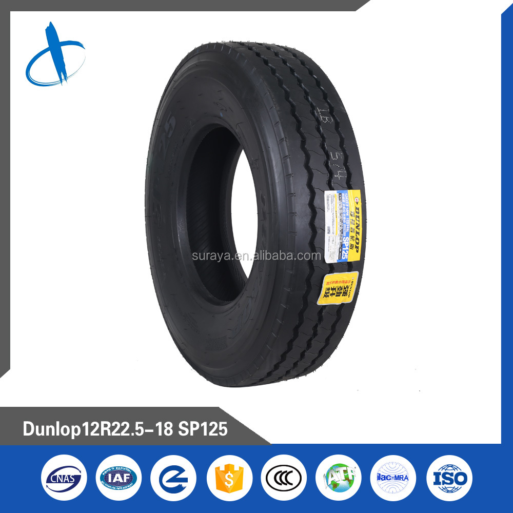 MID-LONG DISTANCE TYRE,Brand Dunlop, Pattern SP125, 12R22.5