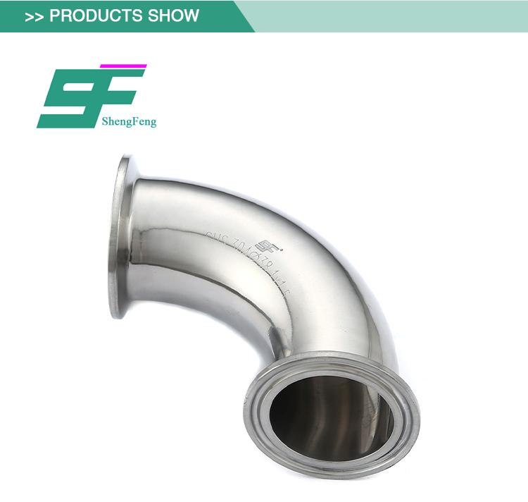 Factory promotional selling sanitary 90 degree clamped elbow stainless steel pipe fittings