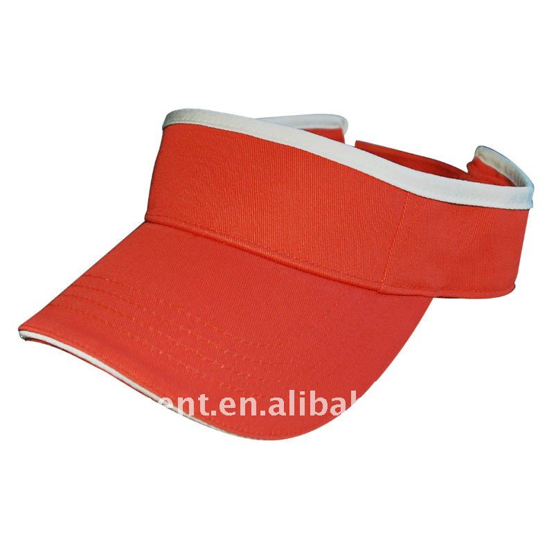 100% cotton contrasting colors sports sun visor cap