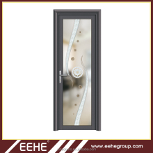 2 way swing door counter swing door with aluminum half glass door design