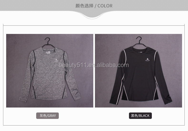 Various Styles Quick Dry Sports Clothes Running Long Sleeve Yoga Shirts
