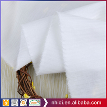 White poplin polyester cotton shirting tc bleached fabric