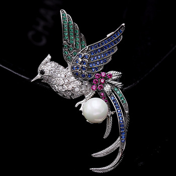 pearl  phoenix brooch retro brooch jewelry wholesale