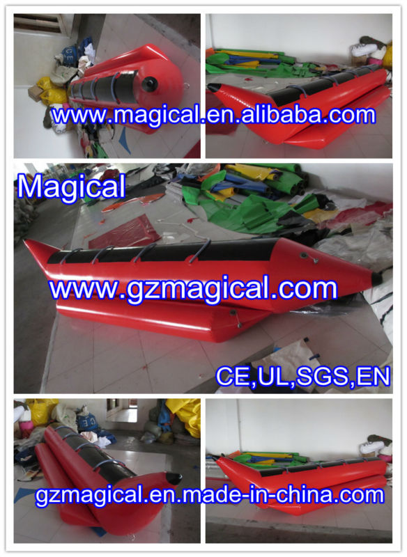 Inflatable banana boat inflatable boat for sale inflatable water games