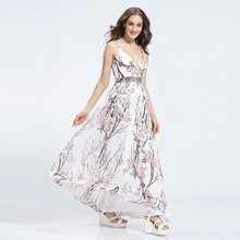Stripe casual sundresses dress for sale dresses white smaller flower printed sexy long dresses for grial and women 2016