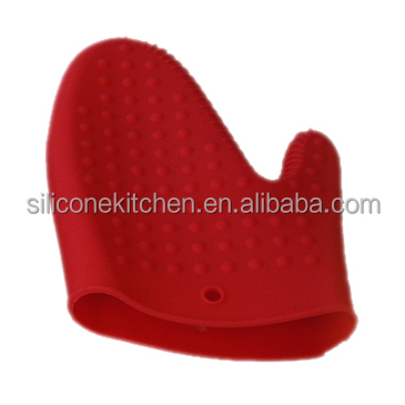 Kitchenware non-stick heat resistant orange kitchen millennium silicone oven mitt