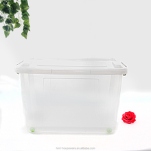 2017 top sale 58L transparent square plastic box basketball large plastic containers clear storage bins with lids