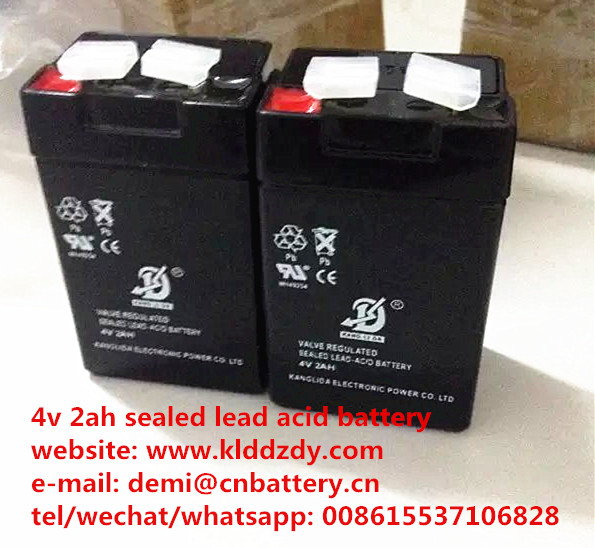 rechargeable 4v 2ah sealed lead acid battery
