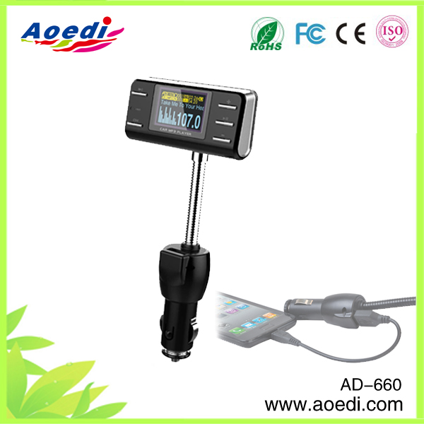 New!!car fm transmitter micro sd card,fm transmitter with car charger,car mp3 player wireless fm transmitter of AD-915