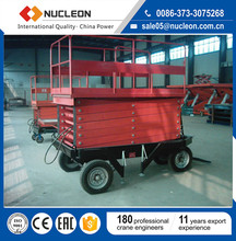 China Four Wheels Pull-type Hydraulic Scissor Lift