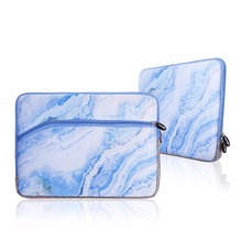 Customized fashionable marble neoprene laptop sleeve case 13 inches