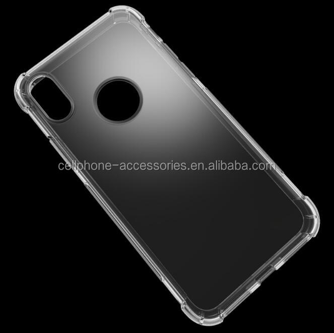 Shockproof Transparent Crystal Clear Soft TPU Gel Skin Back Silicon Cover For iphone 8 Case