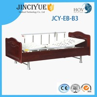 High quality! CE&ISO hot sale movable full-fowler wood manual hospital bed for home care