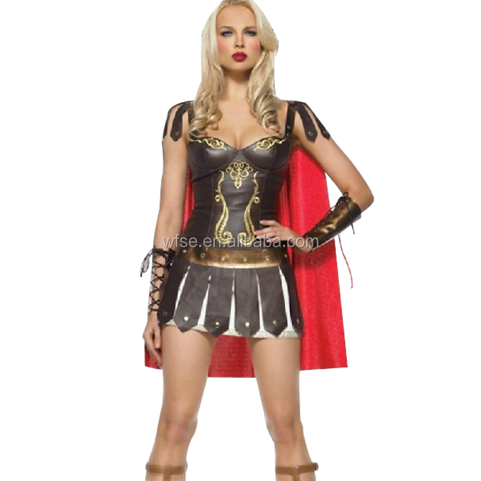 Ladies Roman Greek Xena Gladiator Warrior Princess Roman Spartan Costume women sexy party cosplay halloween