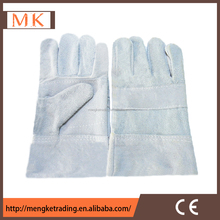 machines for natural color cow split leather gloves
