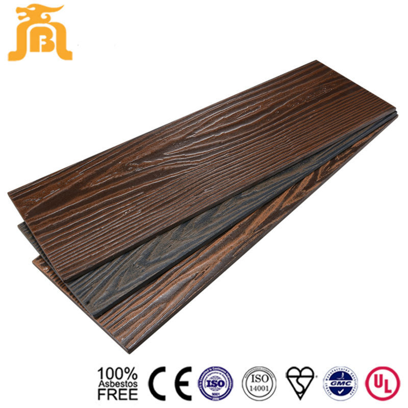 House Designs Fiber Cement Wood Grain Panel Exterior Wall Material