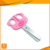 high quality colorful plastic handle animal student scissors