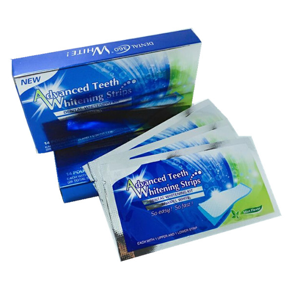 1 Box 14 Pouches/28 strips Whitestrips Whitening 3d Advanced Vivid Teeth Whitening Strips oral hygiene dental white