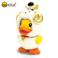 B.Duck Goat shaped pvc atm money box coin saving bank with costume