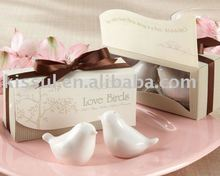 Love birds salt and pepper shakers Wedding giveaways For Practical Party Favors