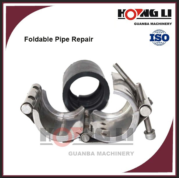 RCD flexible stainless steel/pvc pipe leak repair /sealing clamp