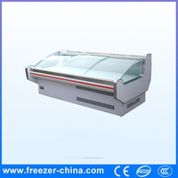 Commercial open top meat freezer with cover
