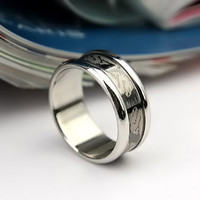 Titanium steel jewelry of 361 stainless steel ring Engrave Dragon Picture ring with best selling new high quality