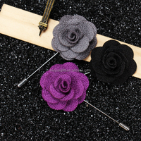 High Quality Long Needle Flower Lapel