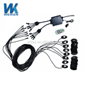 WEIKEN 8 Pods 2inch 9w RGB LED Rock Light Remote Control waterproof IP68 Under Car Bluetooth LED Rock Light