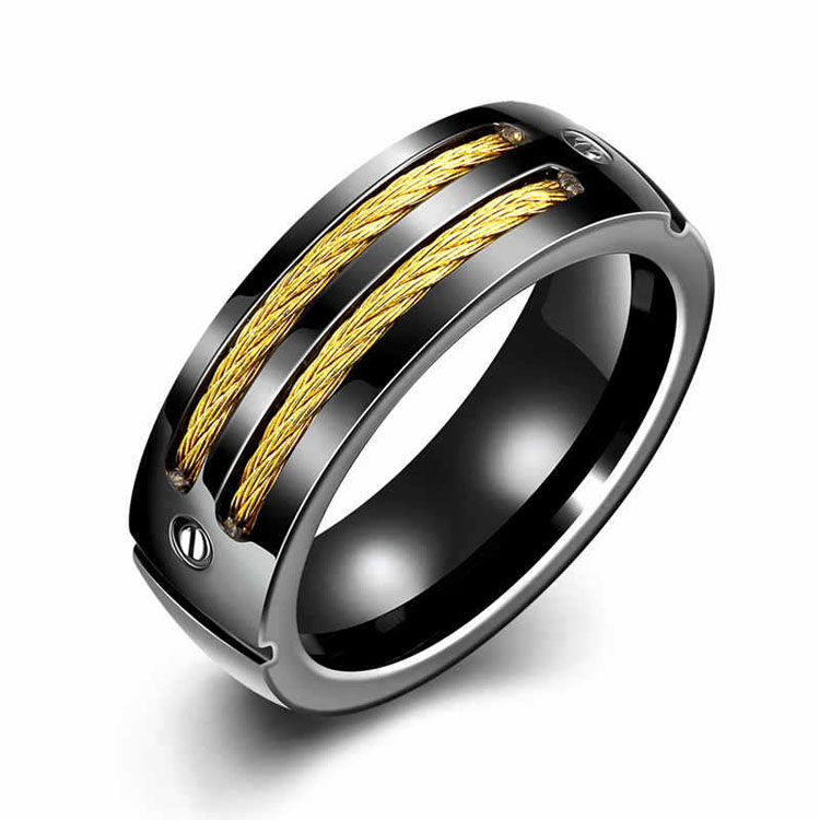 New Arrival Classic design yiwu jewelry black/gold/silver stainless steel animal ring