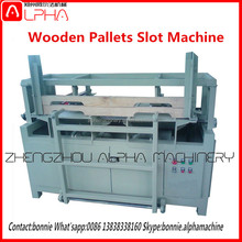 2016 low price Wood pallet keyway slotting making machine / notching machine