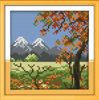 Four seasons in the countryside autumn needlepoint
