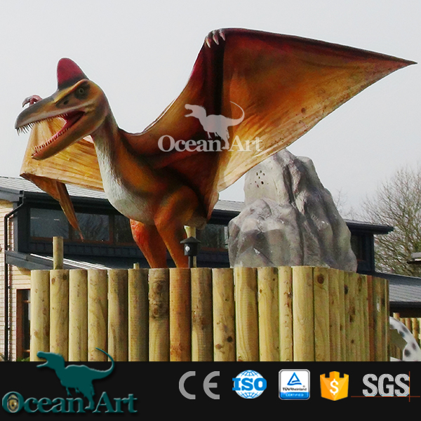 OA6029 Display Silicon Rubber Animatronic Flying Dinosaur Model