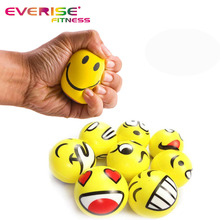 Nnti Squishy Yellow Smiley Face Emoji Squeeze PU Stress Ball